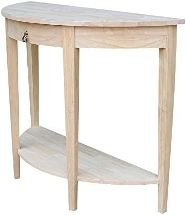 International Concepts Half Moon Console Table