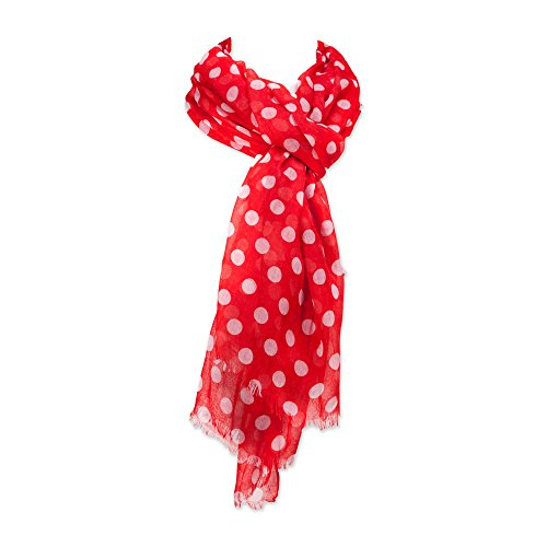 Tickled Pink Women's Game Day Sports Team Apparel Scarf or Wrap, Polkadots/36x70