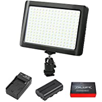 LED Video Light, GILUMI 192pcs Ultra Thin Dimmable High Power Panel Lamp on Camera Video Light with Battery for Canon Nikon Sony DSLR Camera/Camcorder