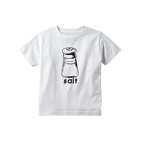 Halloween Costume - Cute Twin Toddler Tees With Salt (Goes With Pepper) Print (3T, White)