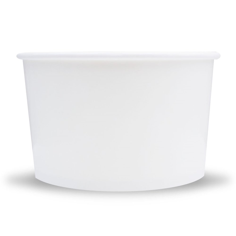 White Paper Ice Cream Cups - Large 20 oz Dessert Bowls - Perfect For Your Yummy Food & Treats - Frozen Dessert Supplies - Fast Shipping! 25 Count