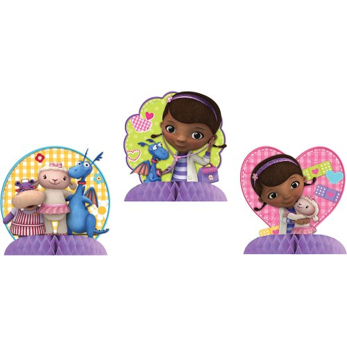 Doc McStuffins Tabletop Decorations Birthday and Holiday Party Supplies 3 Per -