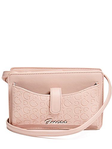 Guess Pink Leather Strap - GUESS Factory Women's Riley Mini Crossbody