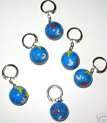 Amazon world map globe keychain sold as a set of six color amazon world map globe keychain sold as a set of six color globe keychains great for party favors incentive awards gift giving and more toys gumiabroncs Image collections