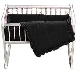 Baby Doll Bedding Solid Cradle Set, Black