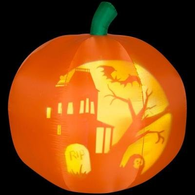 Halloween Decoration Lawn Yard Iinflatable Animated Panoramic Projection Pumpkin