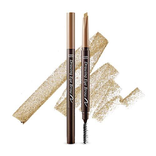 ETUDE HOUSE Drawing Eye Brow 0.25g #7 Light Brown - Long Lasting Eyebrow Pencil. Soft Textured Natural Daily Look Eyebrow Makeup
