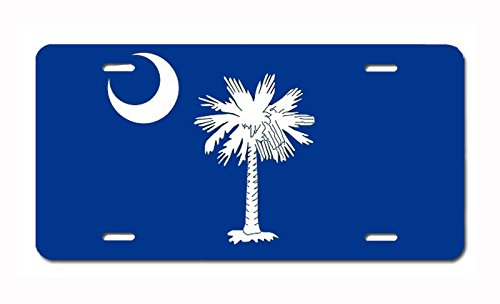 U.S. State Flag Front Plate License/Vanity Plate – Made in The U.S.A. (South Carolina)