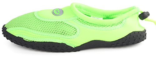 Adjustable Neon Men's Water Mesh Rubber Stretch Sport Shoe Nylon Outdoor Sole Enimay Green 0ZqPU