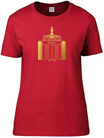 Liverpool Premier League Champions 2020 Shankly Gates 19 Times T-Shirt Ladies Red