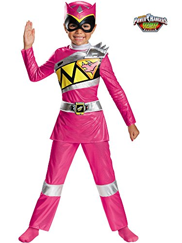Pink Ranger Dino Charge Deluxe Toddler Costume, Medium (3T-4T)
