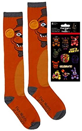 28d691b9664 Five Nights at Freddy s - 2 Piece Bundle Knee High Socks Sock Size 9 ...