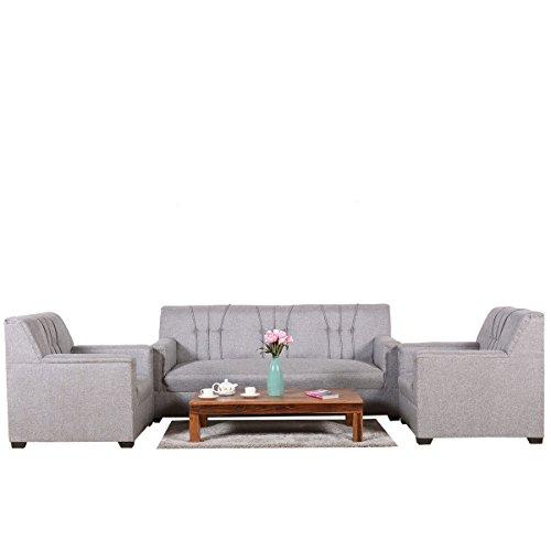 Roman Living Lesto Fabric 5 Seater Sofa Set  Grey