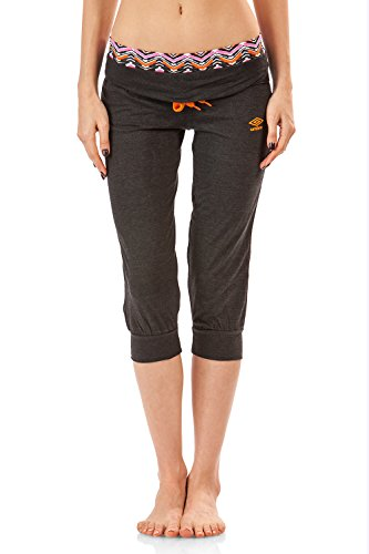 - Umbro Women's Contrast Fitted Lounge Capri Pant - Charcoal - Medium