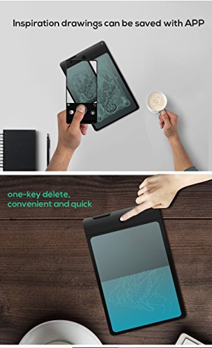 LCD Screen Writing Tablet, 8.8 Inch Electronic Imitating Writing Surface Board with Stylus Durable Doodle Drawing Portable Translucent Pad for Kids Office, Can Be Saved and Edited with APP DIGIBLUSKY by DIGIBLUSKY (Image #5)