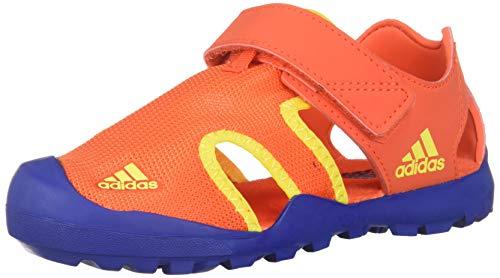 adidas outdoor Captain TOEY Kids Water Sports Shoe Sandal, Active Orange/Collegiate Royal/Shock Yellow, 1 Child US - Yellow Sandals Boys