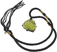 Moldavite Crystal Necklace, Irregular Natural Stone Gemstone Crystal Pendant Necklace Dainty for Men Women Gir