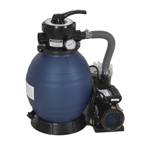 "Best Choice Products® Pro 2400GPH 13"" Sand Filter Above Ground Swimming Pool Pump 10000GAL"