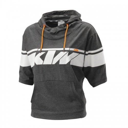 ORIGINALE KTM Girls Logo Felpa con cappuccio/grigio, taglia L