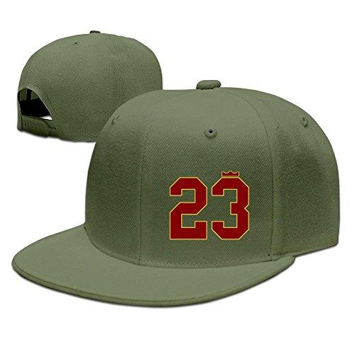 (YQUE Unisex Cleveland City Basketball Player LeBron 23# James Hip Hop Headwear ForestGreen)