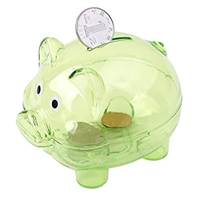Edtoy Piggy Bank Small Piggy Banks for Child Creative Color Pig Piggy Banks for Birthday Gift (Green): Toys & Games