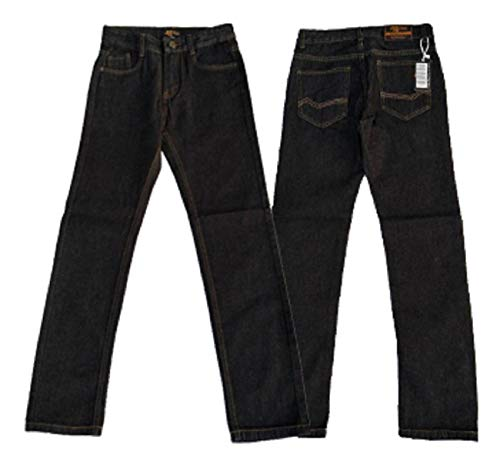 Designer Boys Jeans Adjustable Waist Trousers Black Blue Denim Wash Toddler Kid Children Age 2 3 4 5 6 7 8 9 10 11 12 13 14 15 16 Years (Black, 6-7 Years (EU 122))