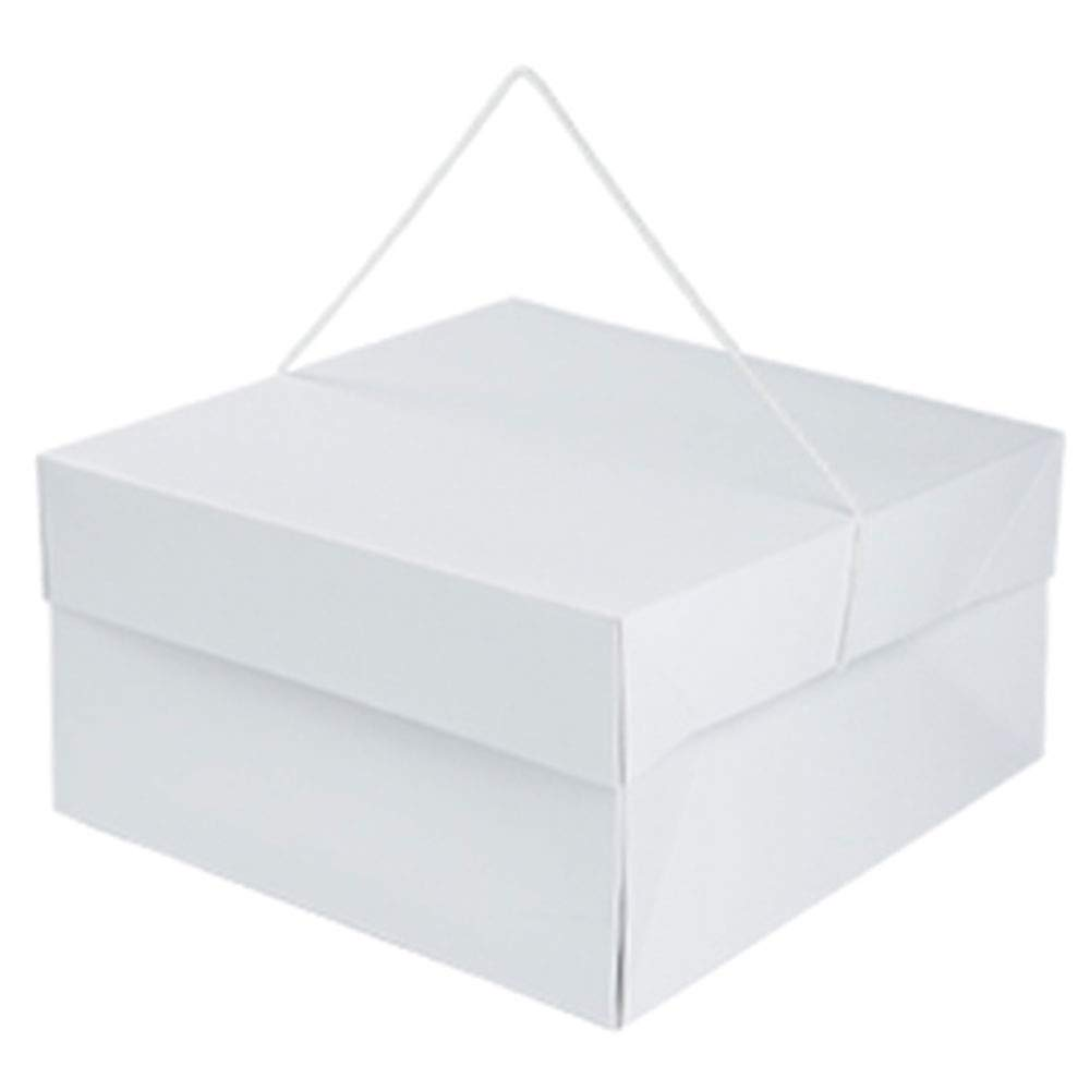 Hat Boxes with Handles - White - 14'' x 14'' x 7'' - Case of 25