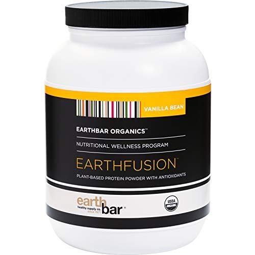 Earthbar Earthfusion Vegan Plant-Based Protein Powder with Antioxidants (2lb, Vanilla Bean)