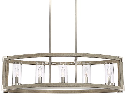 Steel 5 Light Chandelier (Kerr 32 3/4