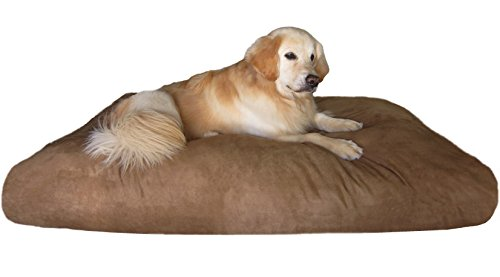 Dogbed4less Jumbo Extra Large Shredded Memory Foam Dog Bed Pillow with Durable Waterproof Microsuede Cover 55