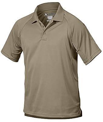 LA Police Gear Men Antiwrinkle Operator Tactical Short Sleeve Polo Shirt