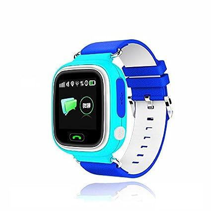 Kobwa mundial niños reloj inteligente con pantalla táctil de colores GPS + WiFi + GSM SIM