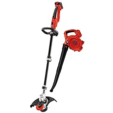 BLACK+DECKER LCC420 String Trimmer and Sweeper Lithium Ion Combo Kit, 20-volt