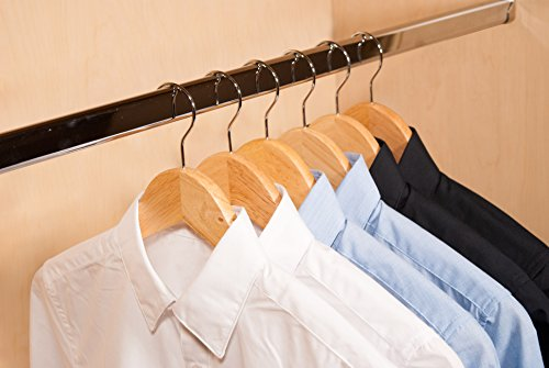 Topline Classic Wood Shirt Hangers - Natural Finish (30-Pack) by Topline (Image #5)