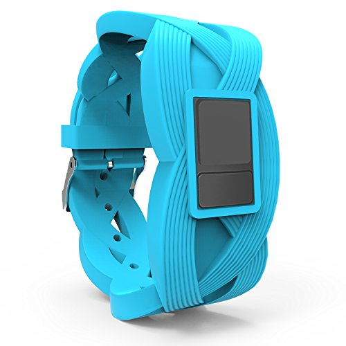 iBREK Garmin Vivofit 3 JR Replacement Bands with Buckle,Chic 3D Pattern(No Tracker)-Blue