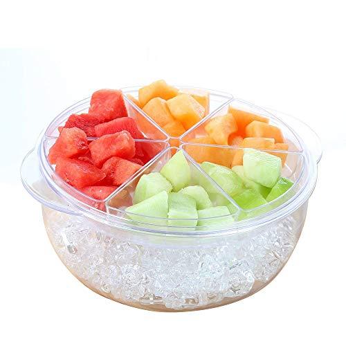 (TravenPal Acrylic Salad And appetizer Chilled Condiment Server 9 Peice set)