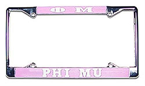 - Greekgear Phi Mu Chrome License Plate Frame