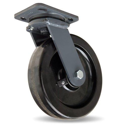 Hamilton Workhorse Caster - 8''Dia.X2''W Plastex Plastic Wheel - 1400-Lb. Capacity - Swivel - Black by Hamilton