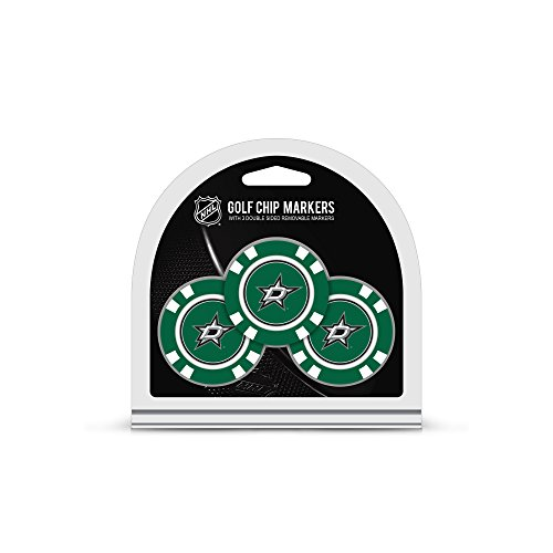 (Team Golf NHL Dallas Stars Golf Chip Ball Markers (3 Count), Poker Chip Size with Pop Out Smaller Double-Sided Enamel Markers)