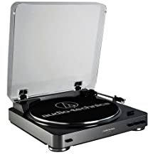 Audio Technica AT-LP60USB Black Fully Automatic Belt Driven Turntable with USB Port by Audio-Technica