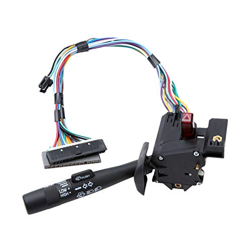 Multifunction Combination Switch, 26100986 26047331 26054728, with Turn Signal, Wiper, Washers, Hazard Switch, High Low Beam Switch, Fit for Cadillac Chevrolet GMC Oldsmobile Without Cruise Control