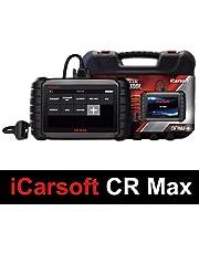 iCarsoft CR Max AutoPro Multimerkdiagnosekoffer, origineel model met Europese garantie, lezen/wissen van fouten, resetonderhoud, codering injectoren, FAP-regeneratie