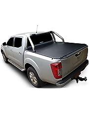 Tuff Tonneaus Nissan Navara NP300 Dual Cab Genuine No Drill Clip On Tonneau Cover (Suits Factory Sports Bars)