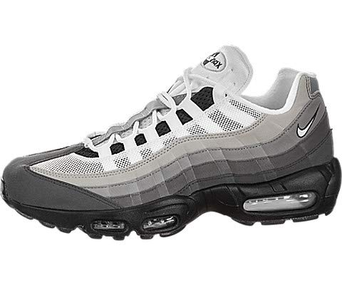 Nike Air Max 95 OG, Black / White-granite-dust, 10.5 (Nike Air Max 95 Black And White)