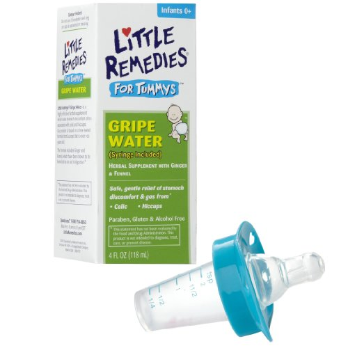 Little Remedies Tummys Gripe Water with Pacifier Medicine Dispenser, Blue