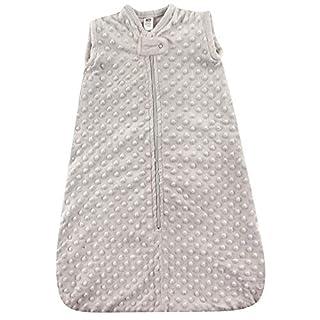 Hudson Baby Unisex Baby Plush Sleeping Bag, Sack, Blanket, Light Gray Dot Mink, 12-18 Months