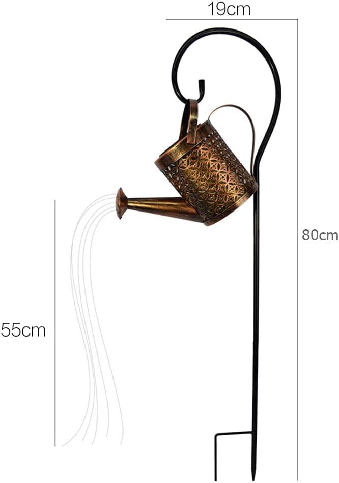 Art Light LED Solar Lamp Outdoor Decoration Light Watering Can Garden Yard Decorative Stake Light