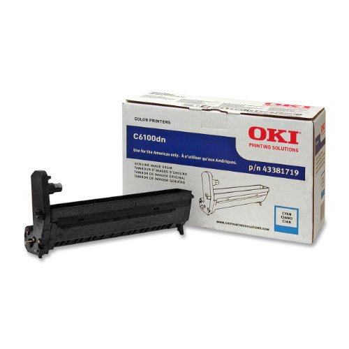 OKI 43381719 Cyan Image Drum for C6100 Series Printers