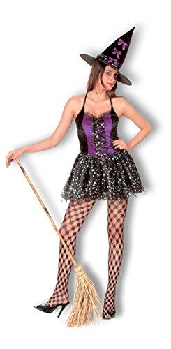 Ladies Halloween Saucy Witch ds Costume Onesize 4-10 (Onesize (US 4-10), Black)