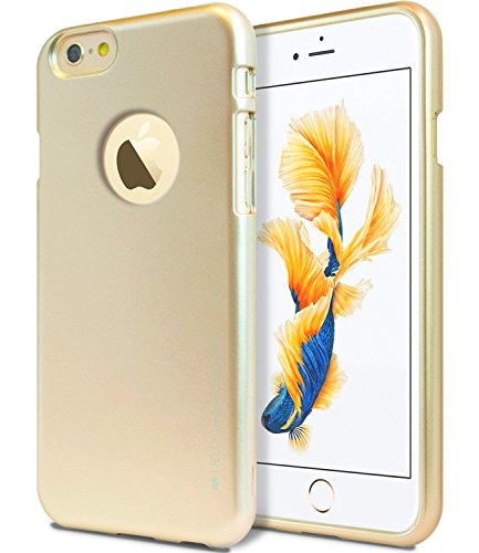 Coque etui de protection iphone 6 6S silicone gel semi rigide effet Metal gold +un film d'écran BACK CASE iPhone 6 6S gold effet Metal